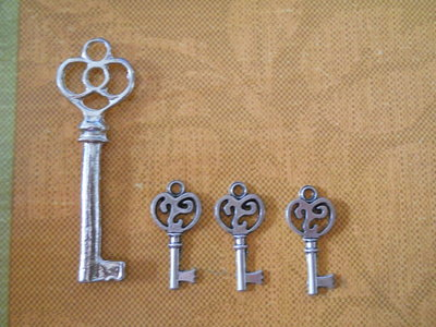 chiavi charms set 4 pz