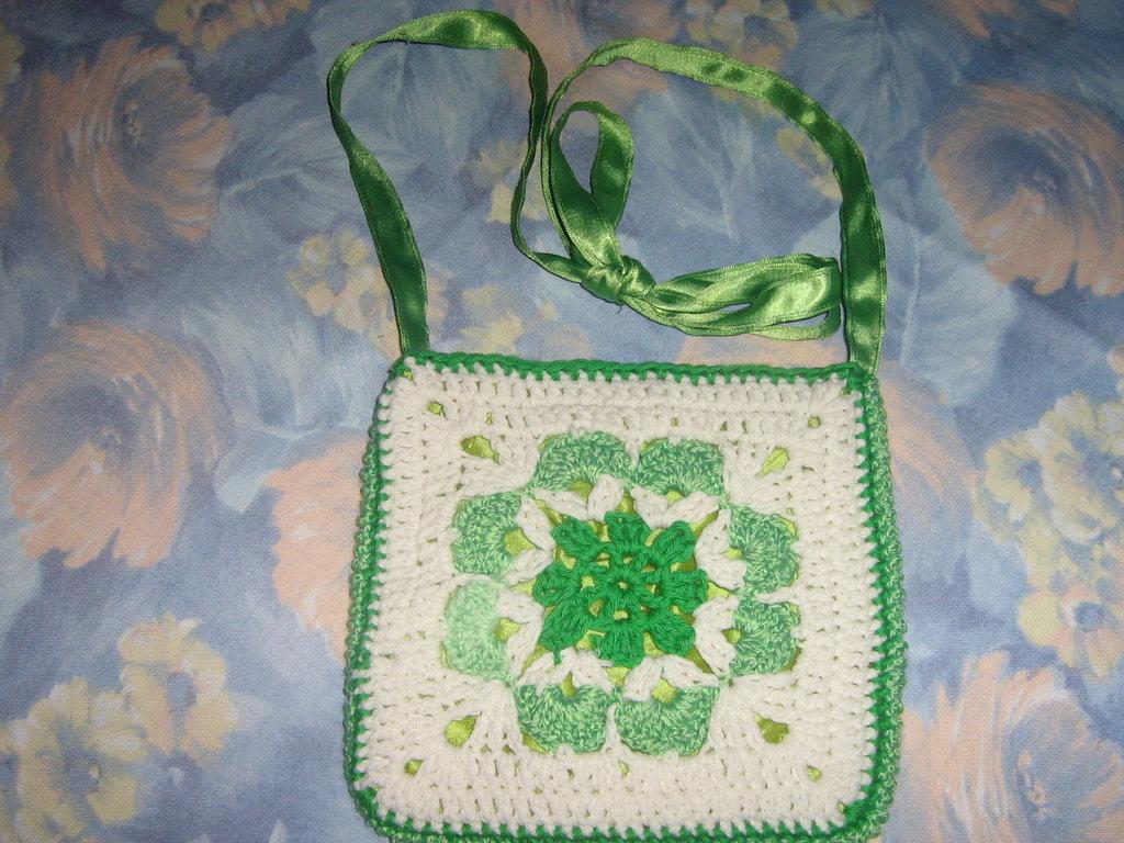 borsa tracolla cotone verde