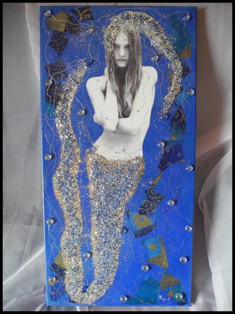 "Quadro in tela - Collage ""Sirena"""