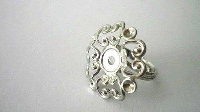 Base anello in ottone,floreale