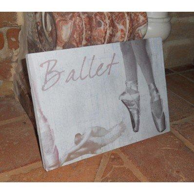 Quadretto Ballet in legno con stampa