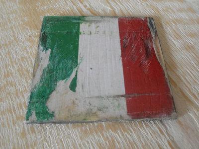Sottobicchieri Italy con bandiera italiana invecchiata