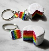 Portachiavi Rainbow Cake