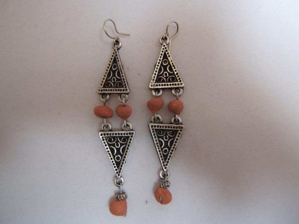 orecchini argento tibetano-Tibetan silver earrings