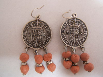 orecchini argento tibetano-Tibetan silver earrings