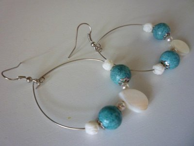 orecchini turchese