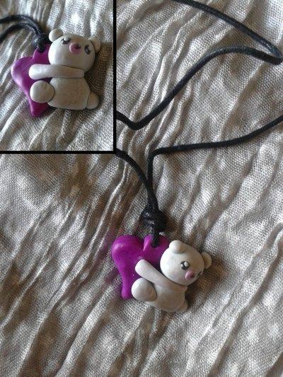Collana orsetto in fimo