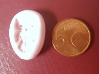 Stampino in silicone per fimo, cernit, pasta di mais gufo