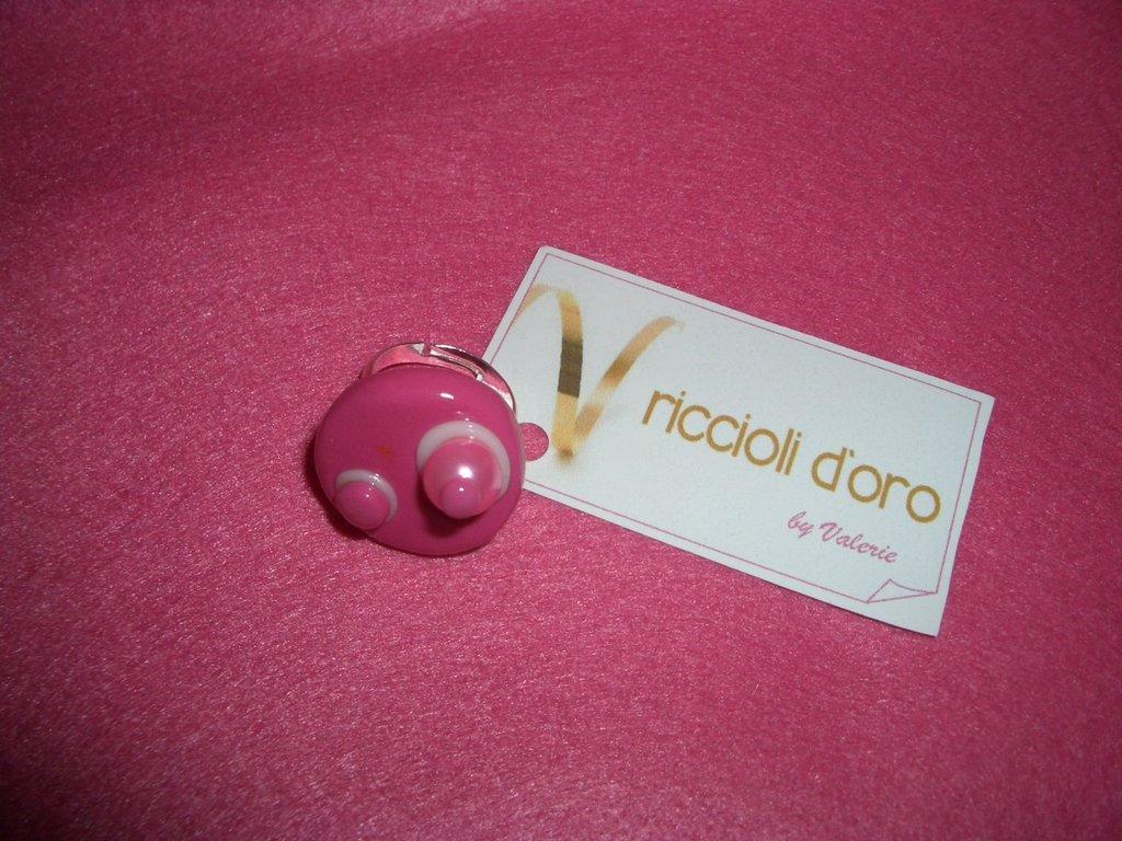 Anello palline rosa