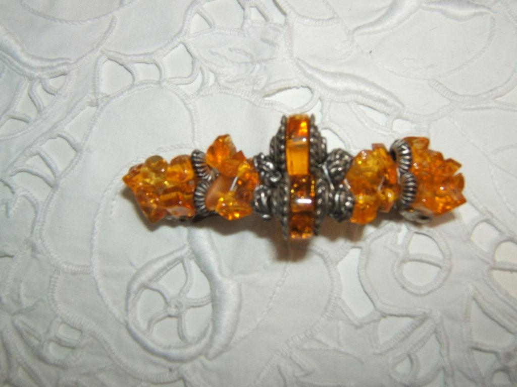 fermacapelli argento tibetano-Hair clips tibetan silver