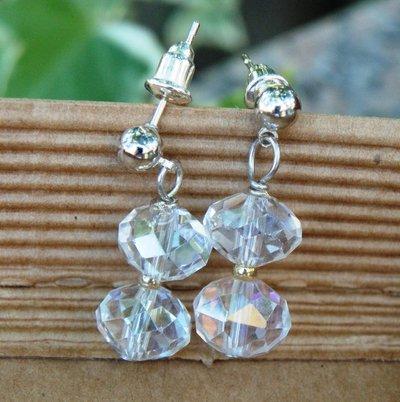 orecchini luminosi cristallo trasparente