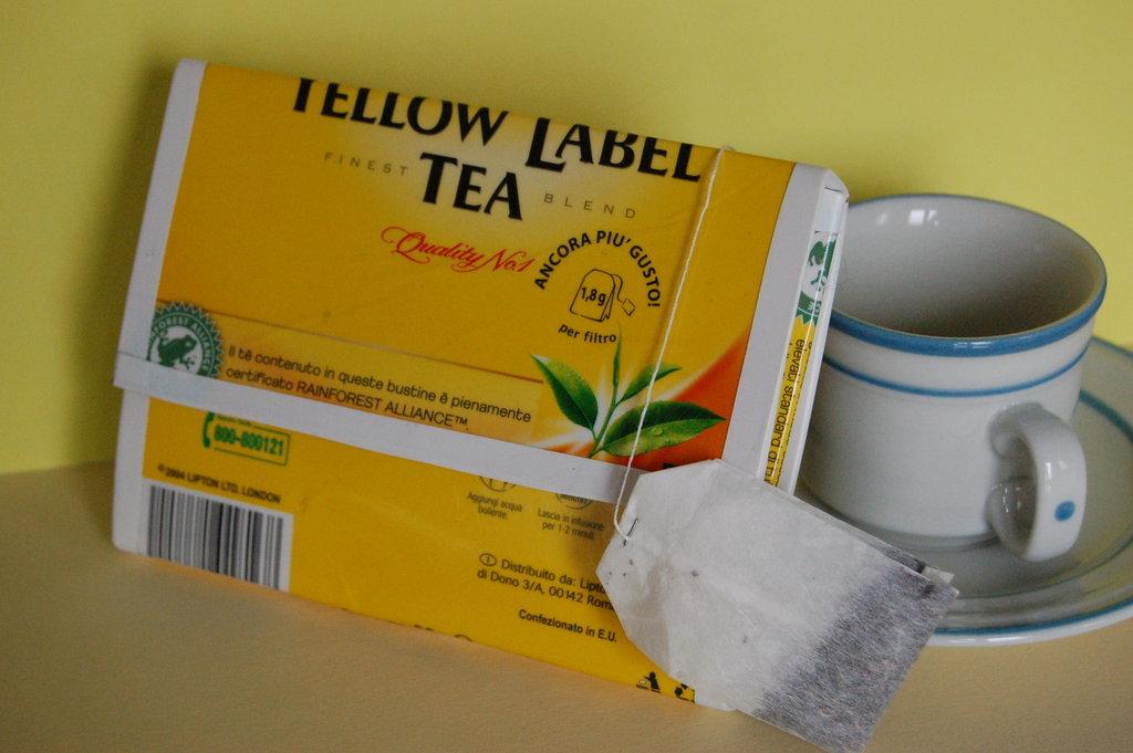 Portafoglio tè Lipton Yellow Label