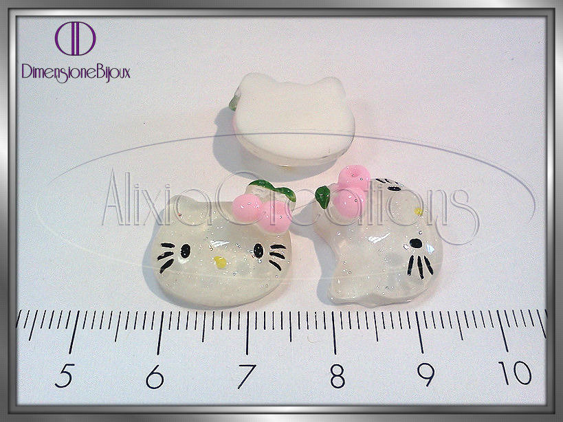 CABOCHON RETRO PIATTO 'TESTA KITTY'