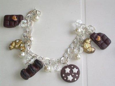 bracciale cioccolate fimo