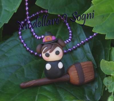 Babily Strega su Scopa Collana - Necklace - Halloween 2012