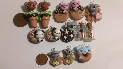Lotto 13 ciondoli animali dolcetti
