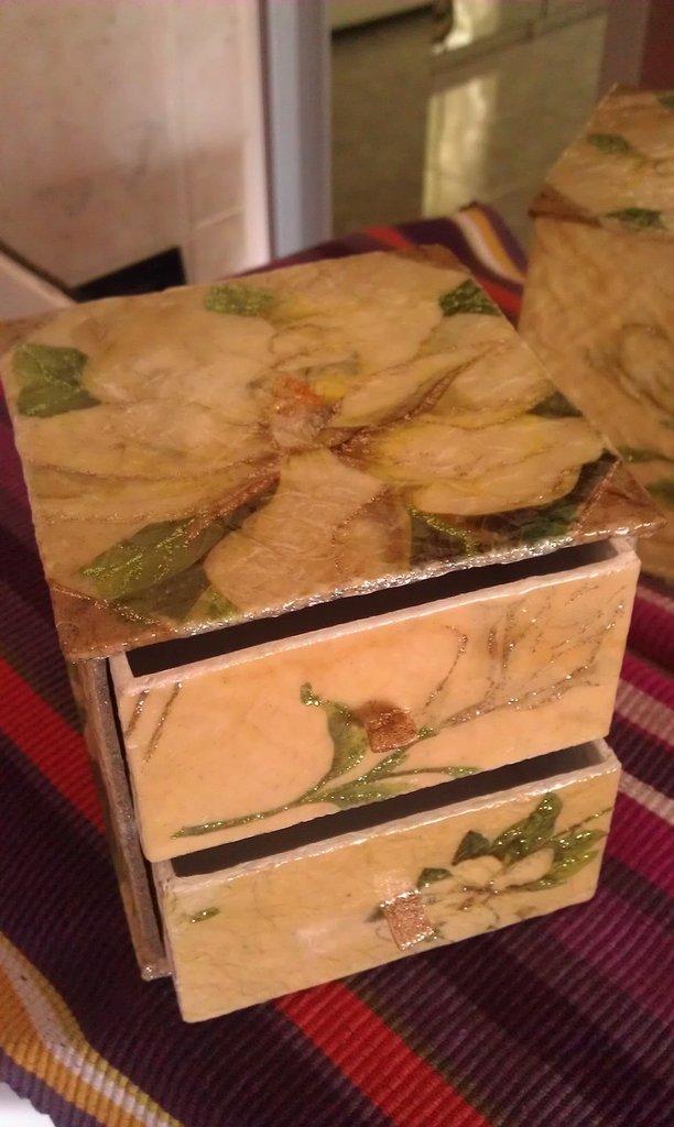 scatola con cassetti - mini