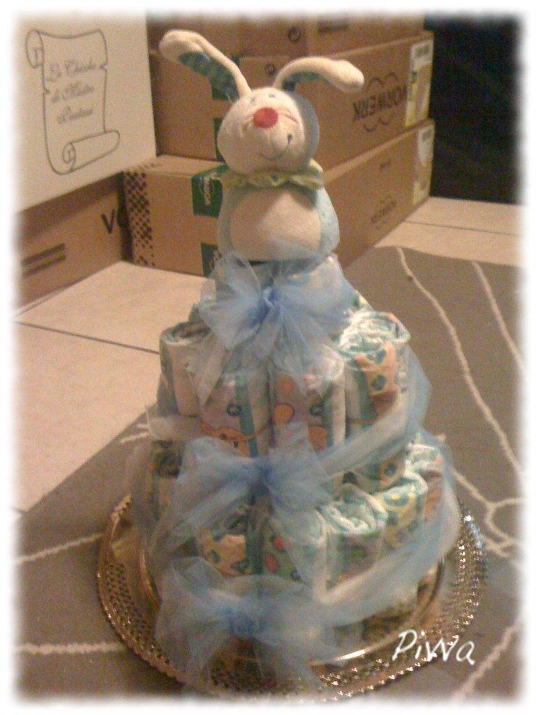 Idea regalo neomamme/torta di pannolini