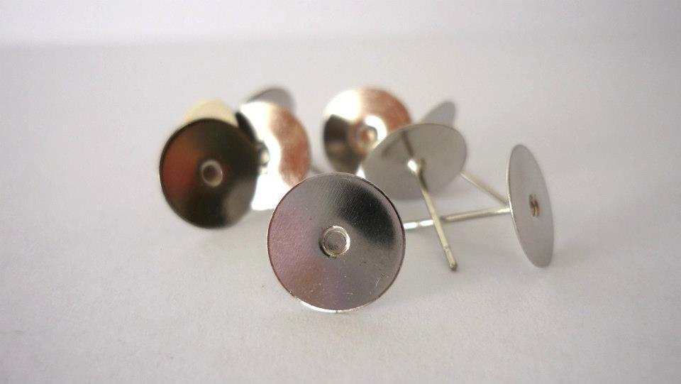 Base orecchino in ottone