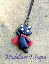 Vampire Cat Necklace - Gatto Vampiro Collana