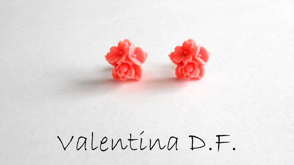 Orecchini mazzi di fiori rosa