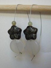 Orecchini stella ceramica