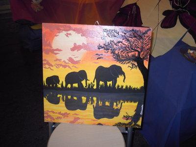 quadro elefanti