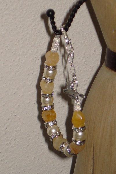 bracciale in quarzo giallo