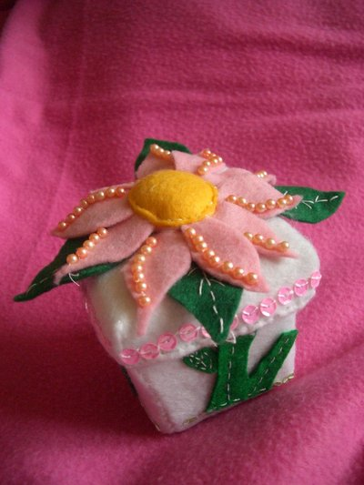 Porta gioie fiore rosa