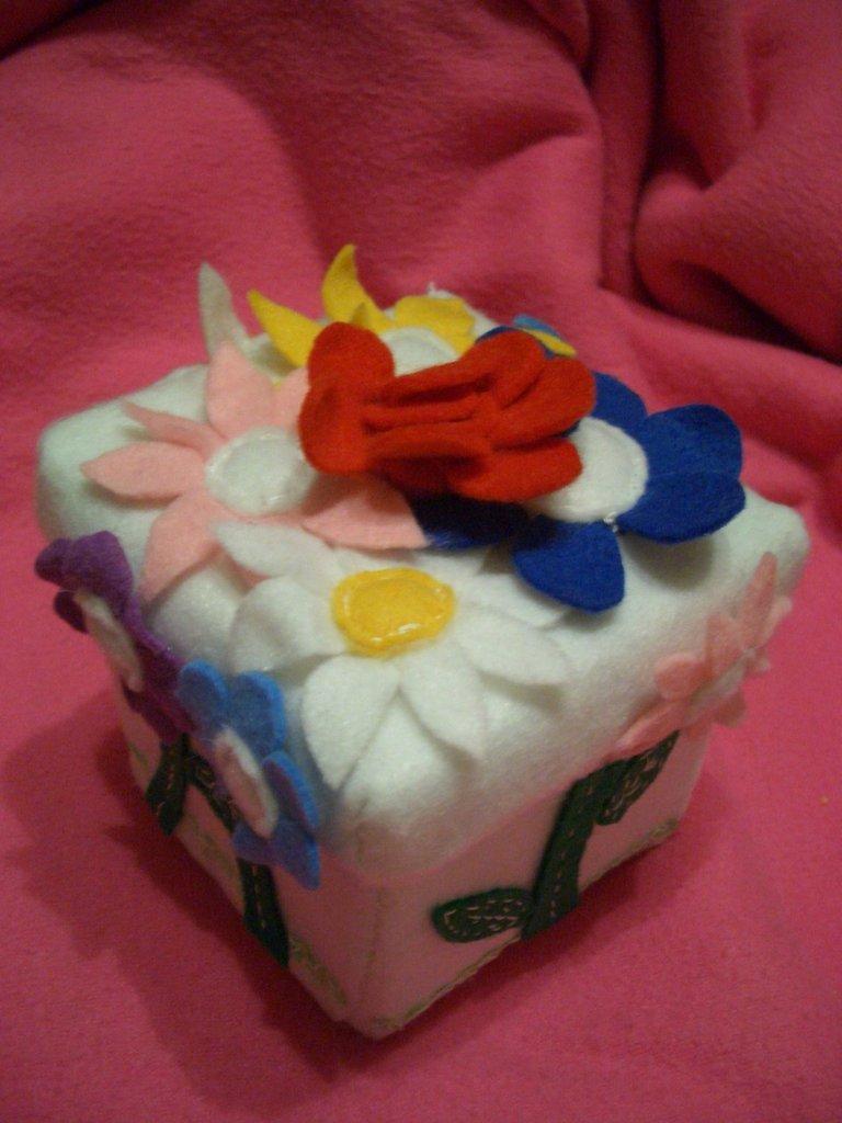 Porta gioie fiori multi colore