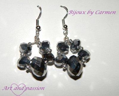 orecchini cristallo ematite