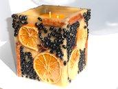 Candela aromatica arancia e cannella