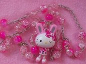 collana lunga fuxia hello kitty