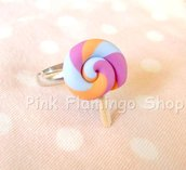 Anello lollipop lecca-lecca in Fimo kawaii