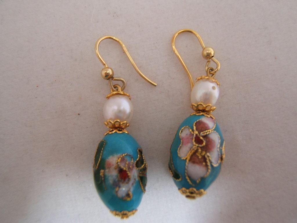 orecchini cloisonnè monachelle argento 925