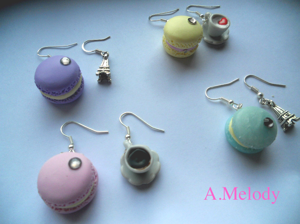 Orecchini Macarons
