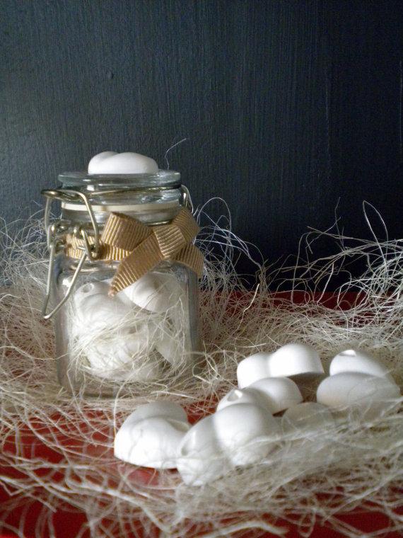 Vasetto di cuori profumati/Mini jar with scented hearts