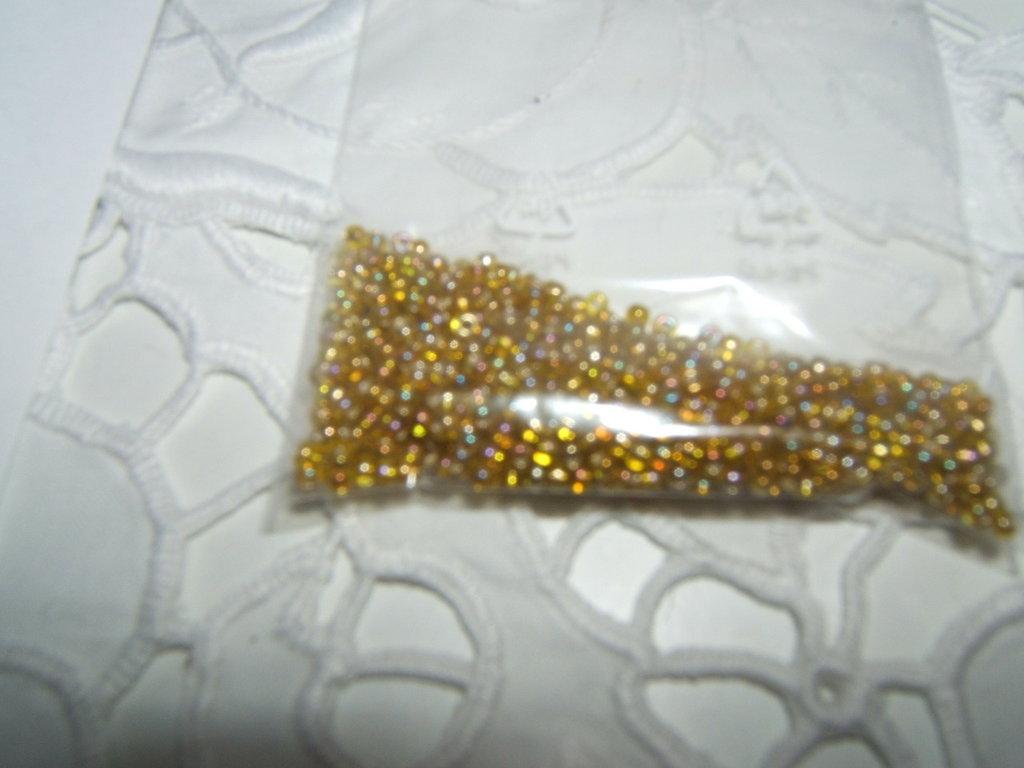 lotto perline roccailes di vetro