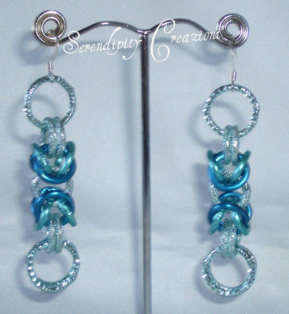 Orecchini Chainmaille Azzurri