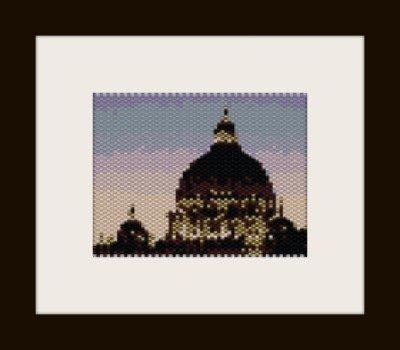 PDF schema quadretto cupola s. pietro in peyote pattern - solo per uso personale