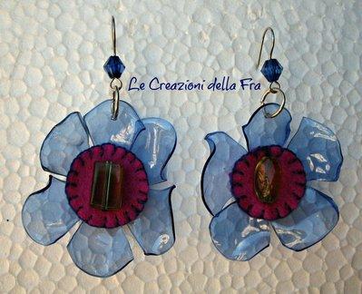 Ecorecchini Fiore blu