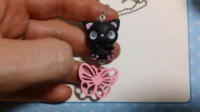 Collanina gattino nero