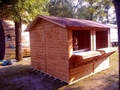Chiosco in legno 2,5x2,5 - 20mm