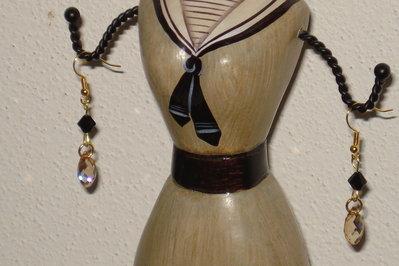 orecchini con gocce swarovski
