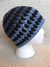 Crochet Tri-Color Adult Hat