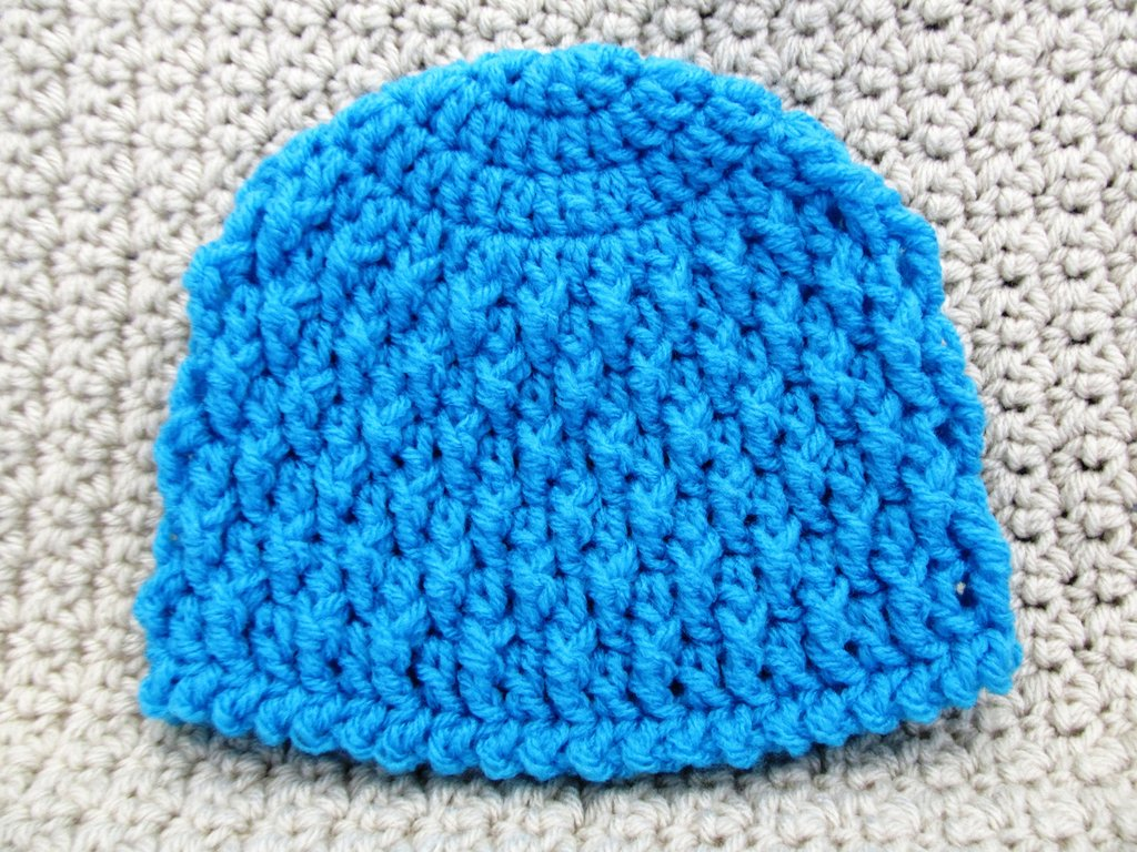 Deeply Textured Newborn Hat
