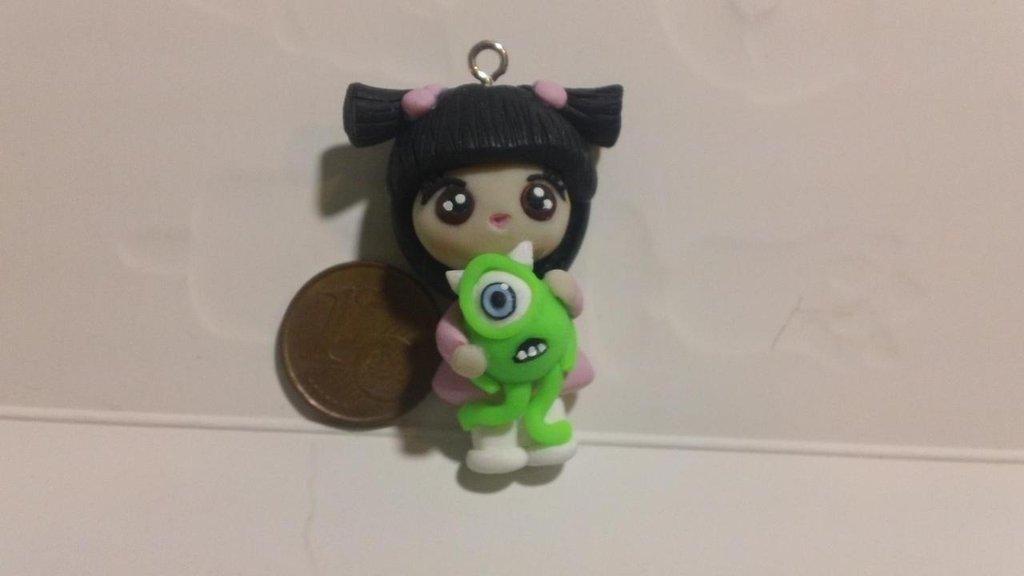 Ciondolo fimo bambolina Boo