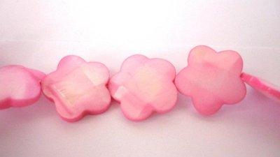 Fiori in madreperla Pink, sfaccettati.