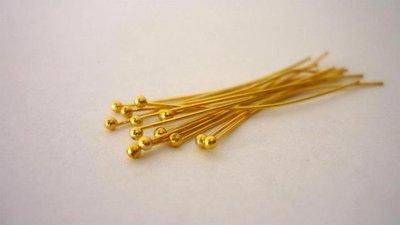 Chiodini,punta tonda,color oro,ottone