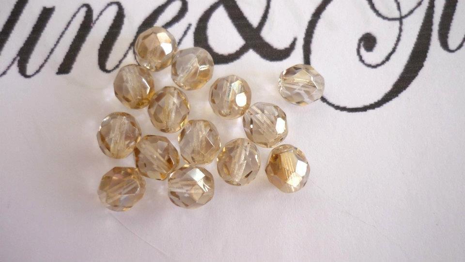 25 Cristalli Preciosa Round Fumo Oro